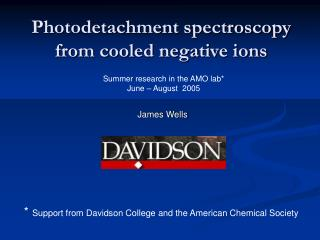 Photodetachment spectroscopy from cooled negative ions