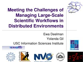 Meeting the Challenges of Managing Large-Scale Scientific Workflows in Distributed Environments