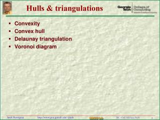 Hulls & triangulations