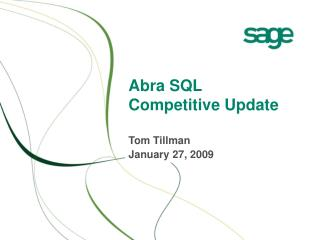 Abra SQL Competitive Update