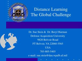 Distance Learning The Global Challenge