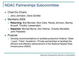 NGAC Partnerships Subcommittee