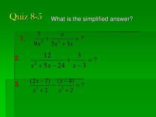 Quiz 8-5