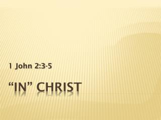 """In"" Christ"