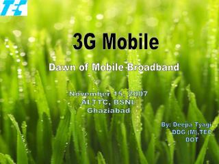 Dawn of Mobile Broadband