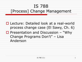 IS 788 [Process] Change Management