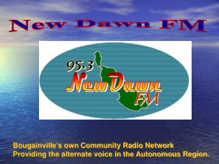 Bougainville's own Community Radio Network