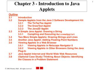 Chapter 3 - Introduction to Java Applets