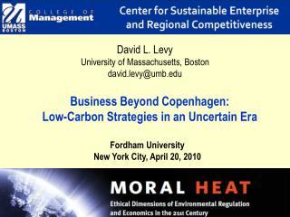 Business Beyond Copenhagen:  Low-Carbon Strategies in an Uncertain Era
