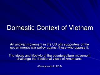 Domestic Context of Vietnam