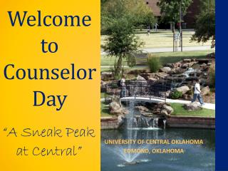 Welcome to Counselor Day