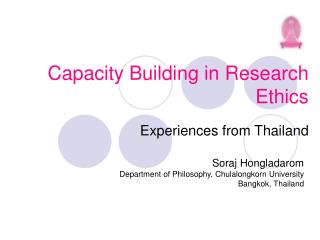 Capacity Building in Research Ethics