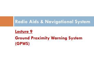 Radio Aids & Navigational System