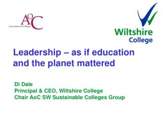 Leadership – as if education and the planet mattered