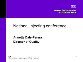 National injecting conference