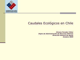 Caudales Ecol�gicos en Chile
