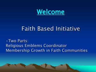 Faith Based Initiative