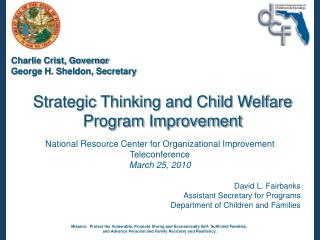 Strategic Thinking and Child Welfare Program Improvement
