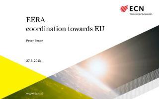 EERA coordination towards  EU