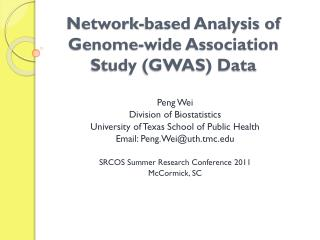 Network-based Analysis of Genome-wide Association Study (GWAS) Data