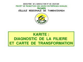 KARITE : DIAGNOSTIC  DE  LA  FILIERE  ET  CARTE  DE  TRANSFORMATION