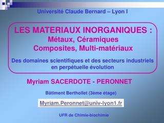 LES MATERIAUX INORGANIQUES : M taux, C ramiques Composites, Multi-mat riaux