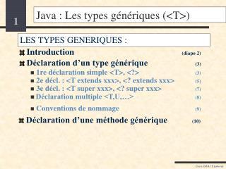 Java : Les types génériques (<T>)