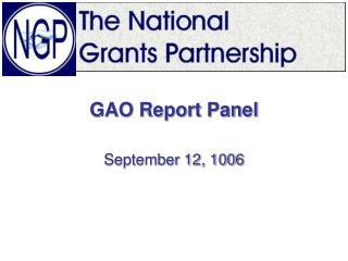 GAO Report Panel