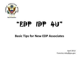 """""""EDP   IDP   4U"""""""