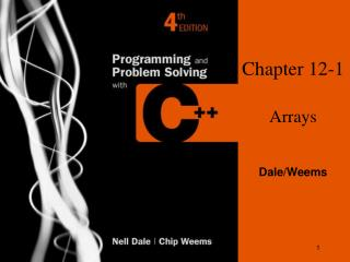 Chapter 12-1 Arrays