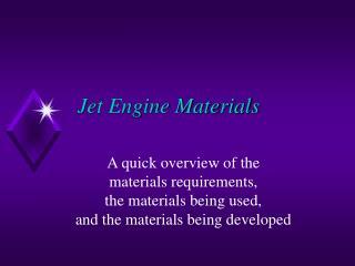 Jet Engine Materials