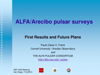 ALFA/Arecibo pulsar surveys