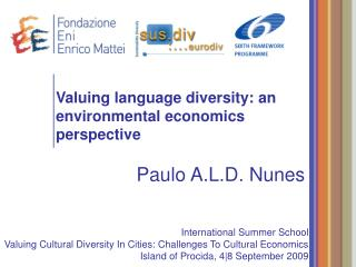 Valuing language diversity: an environmental economics perspective