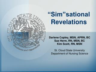 """Sim""sational Revelations"
