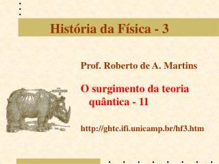 História da Física - 3