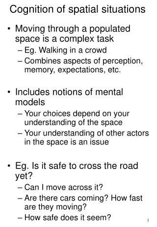 Cognition of spatial situations