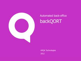 ARQA Technologies 2012