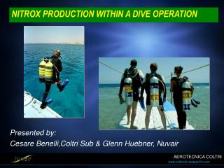 NITROX PRODUCTION WITHIN A DIVE OPERATION
