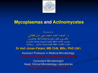 Mycoplasmas  and  Actinomycetes