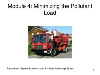 Module 4: Minimizing the Pollutant Load