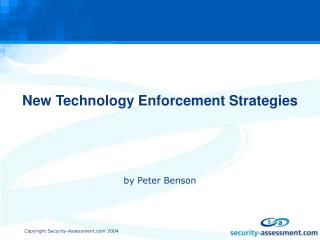 New Technology Enforcement Strategies