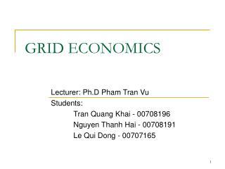 GRID ECONOMICS