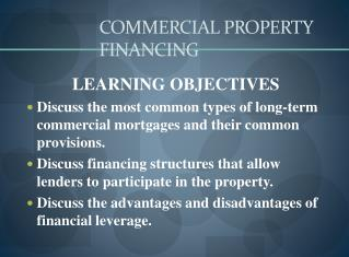 COMMERCIAL PROPERTY FINANCING