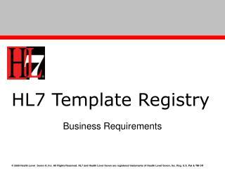 HL7 Template Registry