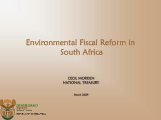 Environmental Fiscal Reform in  South Africa