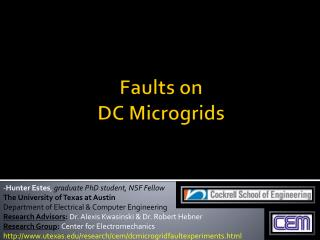 Faults on  DC  Microgrids