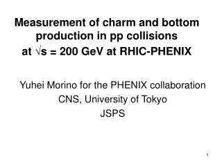 Measurement of charm and bottom production in pp collisions  at  √ s = 200 GeV at RHIC-PHENIX