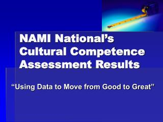 NAMI National's Cultural Competence Assessment Results