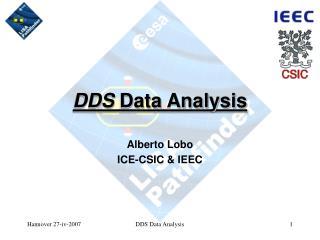 DDS  Data Analysis