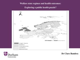 Welfare state regimes and health outcomes:  Exploring a public health puzzle?